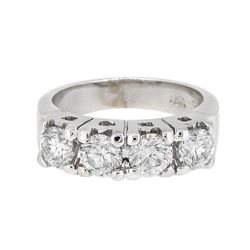 14KT White Gold 1.86ctw Diamond Ring
