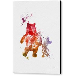 Pooh Bear Print on Canvas