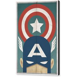Star Spangled Avenger Print on Canvas