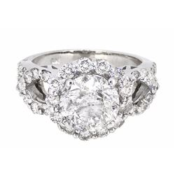 18KT White Gold 3.83ctw Diamond Ring