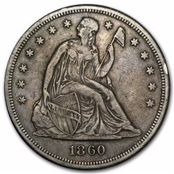 1860-O Seated Liberty Dollar Coin