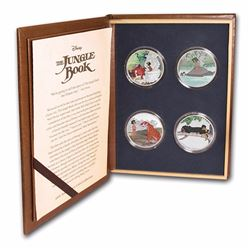 Lot of (4) 2017 $2 Disney The Jungle Book 50th Anniversary Silver Coin Set