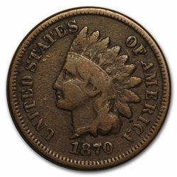1870 One Cent Indian Head Coin