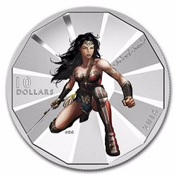 2016 $10 Canada 1/2 Wonder Woman Silver Coin