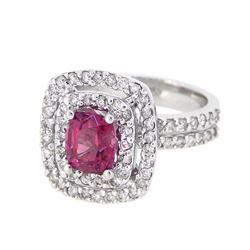 14KT White Gold 1.67ct GIA Cert Spinel and Diamond Ring