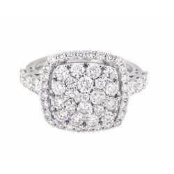 18KT White Gold 1.88ctw Diamond Ring