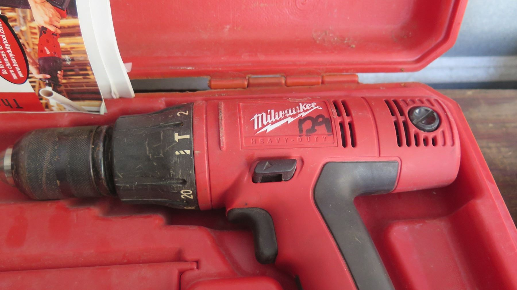 image 6 milwaukee cordless hammer drill and band saw wbattery