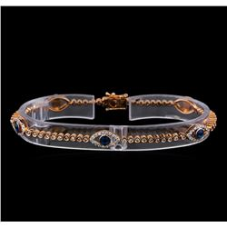1.19 ctw Diamond Evil Eye Bracelet - 14KT Rose Gold