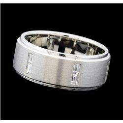 0.58 ctw Diamond Band - 14KT White Gold
