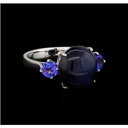 11.71 ctw Multi Gemstone Ring - 14KT White Gold
