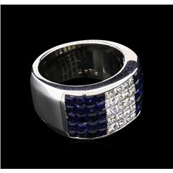 1.20 ctw Blue Sapphire and Diamond Ring - Platinum