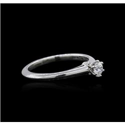 Platinum 0.22 ctw Diamond Solitaire Ring
