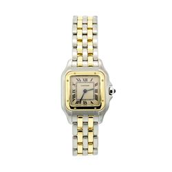 Cartier Ladies Stainless Steel and 18KT Yellow Gold Panthere Watch