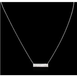 High Polish Name Tag Necklace - 14KT White Gold
