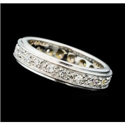 0.80 ctw Diamond Eternity Band - 14KT White Gold