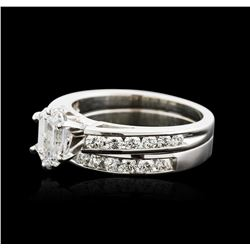 14KT White Gold 1.52 ctw Diamond Wedding Ring Set