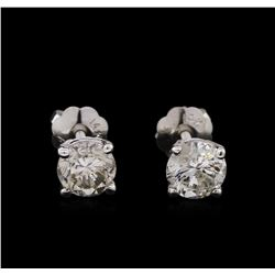 0.84 ctw Diamond Stud Earrings - 14KT White Gold