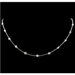 1.29 ctw Diamond Necklace - 18KT White Gold