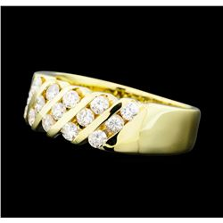0.80 ctw Diamond Five Row Band - 14KT Yellow Gold