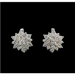 14KT White Gold 2.40 ctw Diamond Earrings