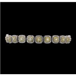 4.11 ctw Diamond Bracelet - 14KT White Gold