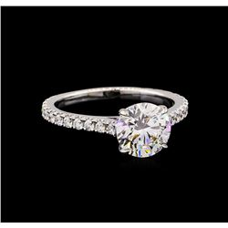 GIA Cert 2.55 ctw Diamond Ring - 14KT White Gold