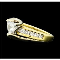 1.00 Diamond Ring - 14KT Yellow Gold