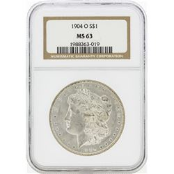 1904-O MS63 NGC Morgan Silver Dollar