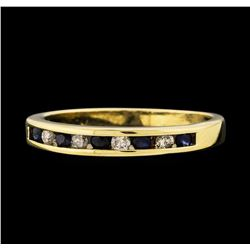 0.05 ctw Sapphire and Diamond Ring - 10KT Yellow Gold