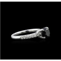 1.97 ctw Black Diamond Ring - 18KT White Gold