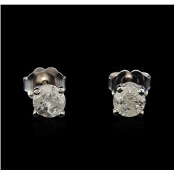 14KT White Gold 0.72 ctw Diamond Stud Earrings