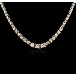 14KT White Gold 4.23 ctw Diamond Necklace