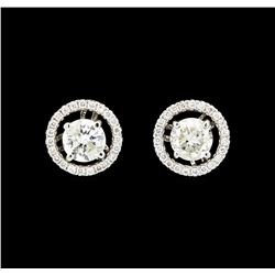 0.75 ctw Diamond Studs and Earring Jackets - 14KT White Gold