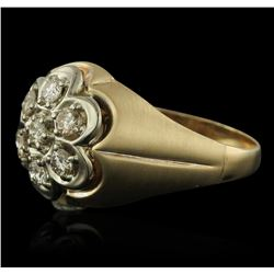 14KT Yellow Gold 0.75 ctw Diamond Ring