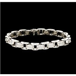 3.50 ctw Diamond Bracelet - 14KT White Gold