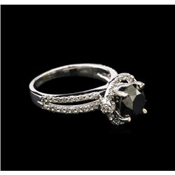 2.09 ctw Black Diamond Ring - 14KT White Gold