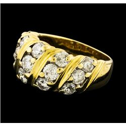 Diamond Ring - 14KT Yellow Gold