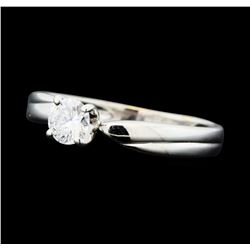 0.25 ctw Diamond Solitaire Ring - 14KT White Gold