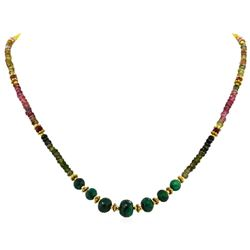 Emerald, Ruby and Sapphire Necklace