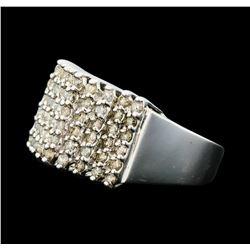 0.50 ctw Diamond Pyramid Ring - 10KT White Gold