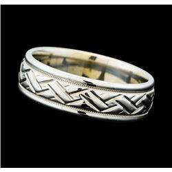 Milgrain and Engraved Ring - 18KT White Gold