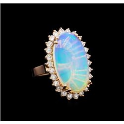 6.91 ctw Opal and Diamond Ring