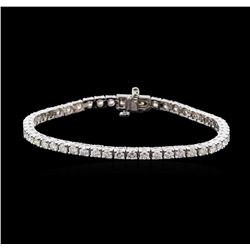 4.68 ctw Diamond Tennis Bracelet - 14KT White Gold