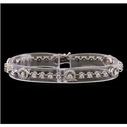 14KT White Gold 2.23 ctw Diamond Bracelet