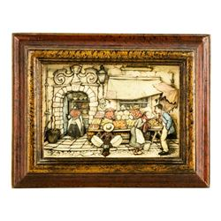 Three Piece Anton Pieck Vintage Shadow Box 3D Art