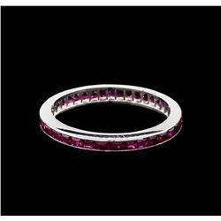 1.00 ctw Ruby Ring - 14KT White Gold