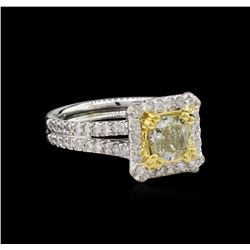 GIA Cert 1.51 ctw Diamond Ring - 14KT Two-Tone Gold