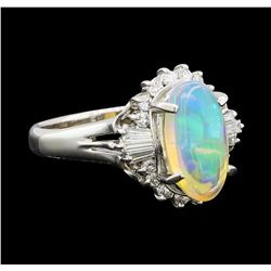 Opal and Diamond Ring - Platinum