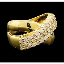 0.86 ctw Diamond Ring - 18KT Yellow Gold