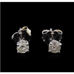 0.38 ctw Diamond Stud Earrings - 14KT White Gold
